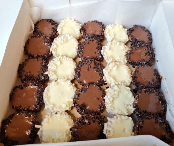 Тарталети шоколад и ванилия
