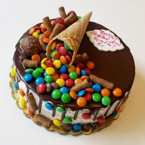 Шоколадова торта с фунийка