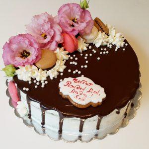 Торта с живи цветя